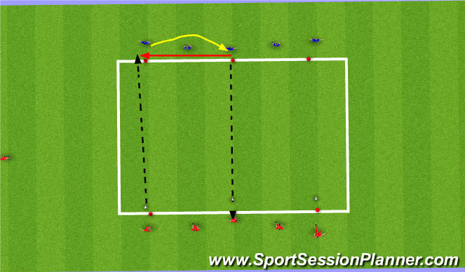 Football/Soccer Session Plan Drill (Colour): simple pass 2