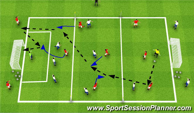 Football/Soccer Session Plan Drill (Colour): SSG 8v8