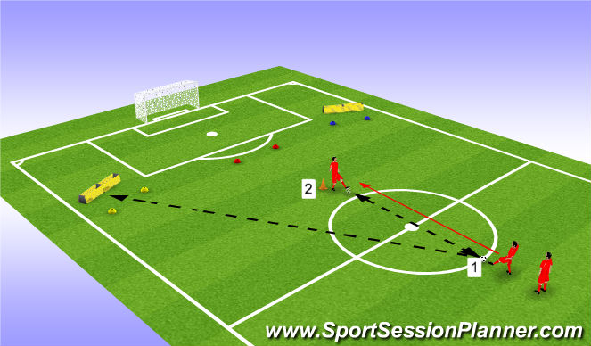 Football/Soccer Session Plan Drill (Colour): Progressions / Adaptations