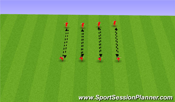 Football/Soccer Session Plan Drill (Colour): passing assessment  usw