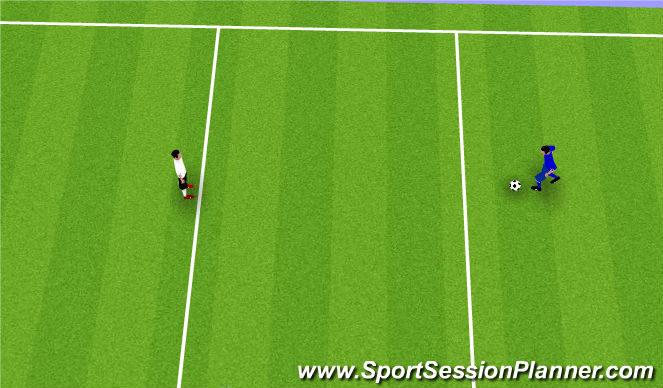 Football/Soccer Session Plan Drill (Colour): 1 v 1 Points