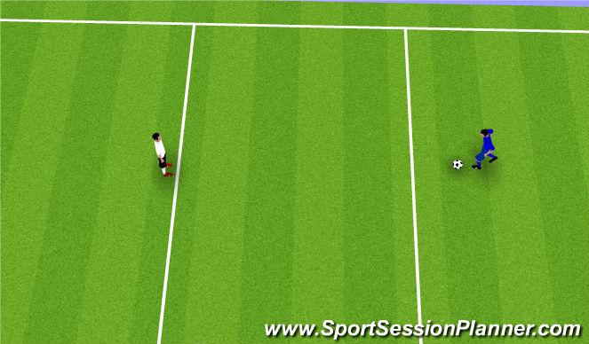 Football/Soccer Session Plan Drill (Colour): 1 v 1 Points