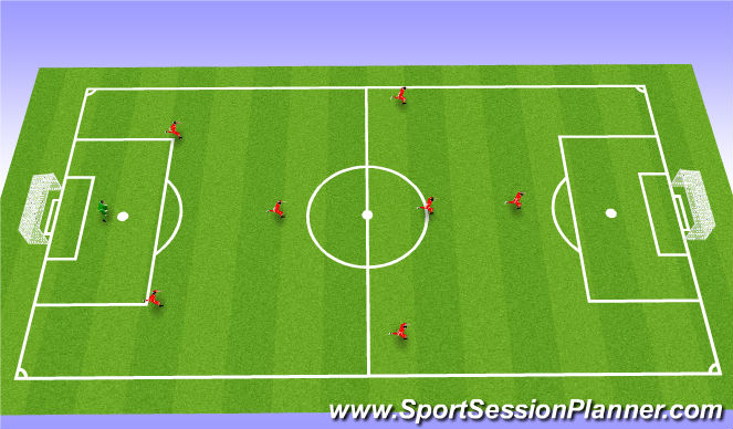Football/Soccer Session Plan Drill (Colour): Shape (In Possesion) ** This is not an exercise.