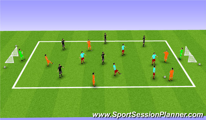 Football/Soccer Session Plan Drill (Colour): Pressing & Transition