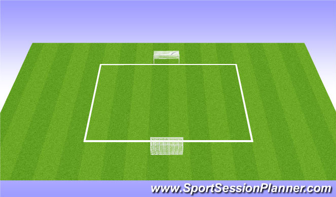 Football/Soccer Session Plan Drill (Colour): SSG - End