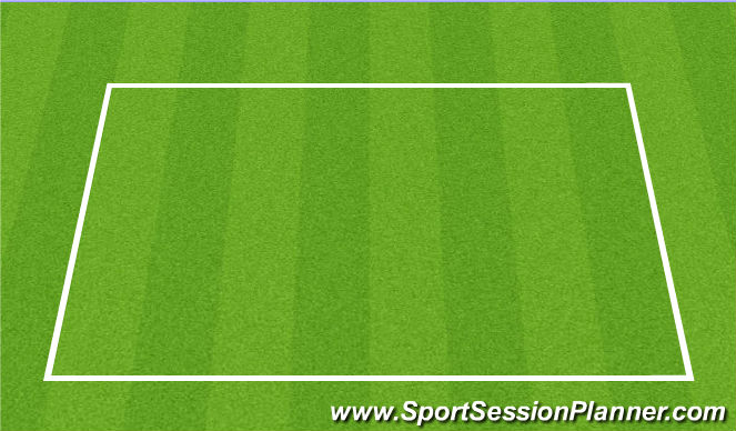 Football/Soccer Session Plan Drill (Colour): Groups of three passing and moving.