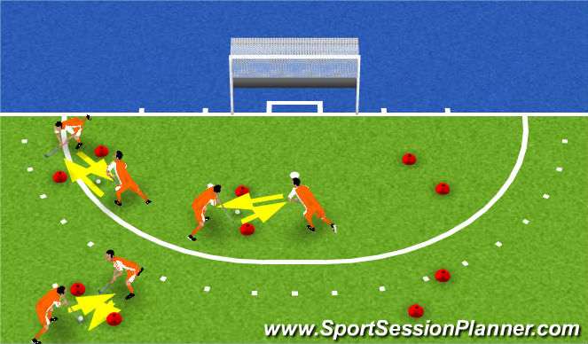 Hockey Session Plan Drill (Colour): warm up game 1