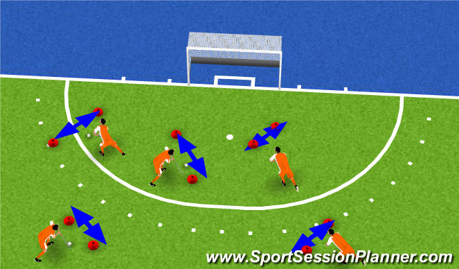 Hockey Session Plan Drill (Colour): warm up game 2