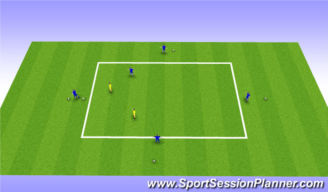 Football/Soccer Session Plan Drill (Colour): Exercise I