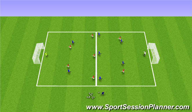 Football/Soccer Session Plan Drill (Colour): 8v8 Fitness Overload