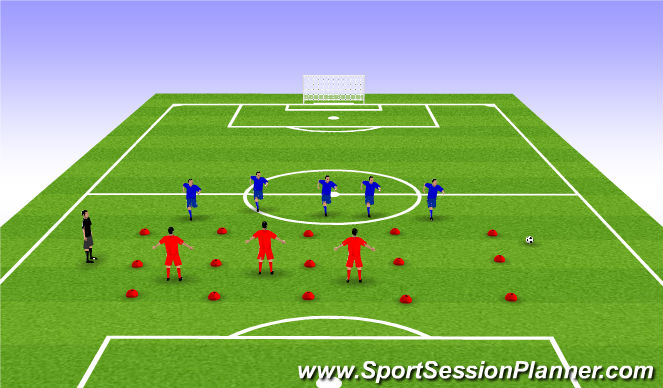 Football/Soccer Session Plan Drill (Colour): Stage 1: Warmup