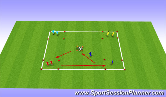 Football/Soccer Session Plan Drill (Colour): Dribble return