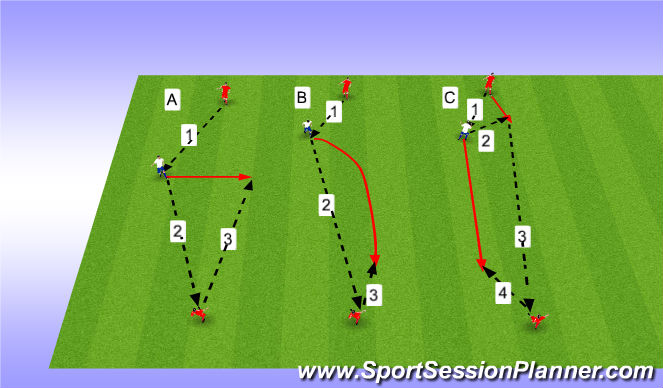 Football/Soccer Session Plan Drill (Colour): Upphitun 1