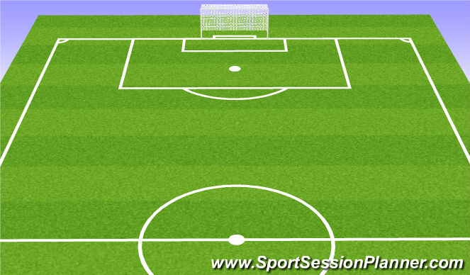 Football/Soccer Session Plan Drill (Colour): 8v8 Game