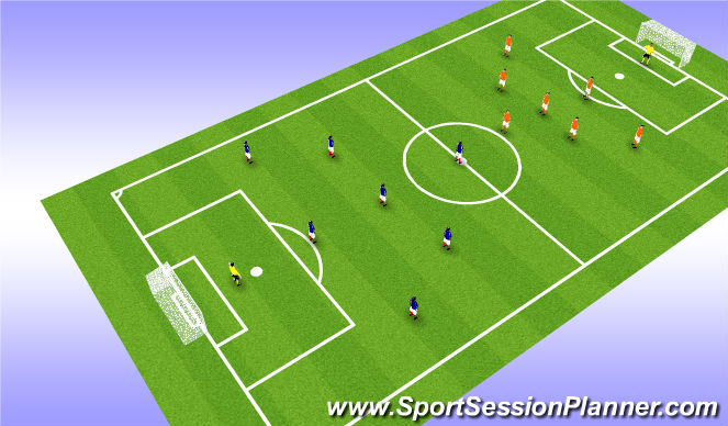 Football/Soccer Session Plan Drill (Colour): 8v8 or 9v9