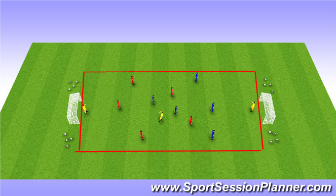 Football/Soccer Session Plan Drill (Colour): Soccer Conditioning (C1W3S1)