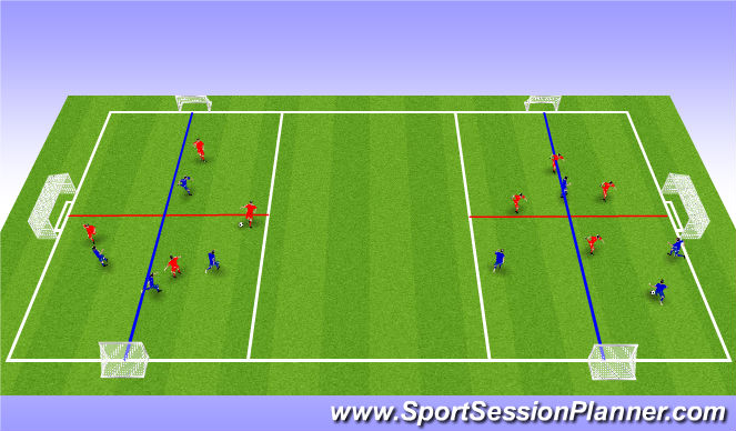 Football/Soccer Session Plan Drill (Colour): Conditioned SSG  #1  (SHAPE)