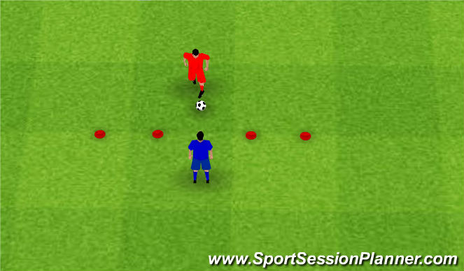 Football/Soccer Session Plan Drill (Colour): 2 GATE GAME