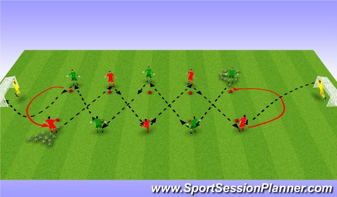Football/Soccer Session Plan Drill (Colour): Tech4