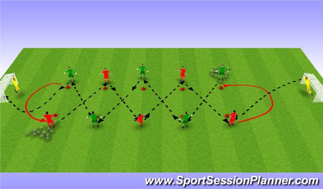 Football/Soccer Session Plan Drill (Colour): Tech4