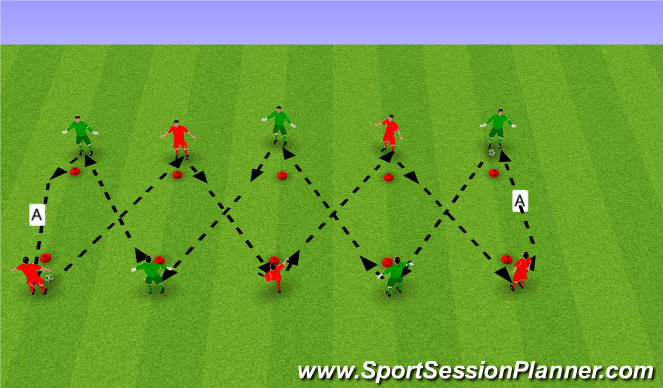 Football/Soccer Session Plan Drill (Colour): Tech5