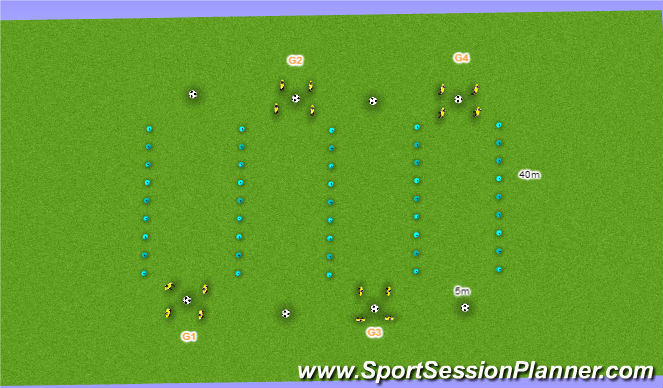 Football/Soccer Session Plan Drill (Colour): Conditioning (Cycle 1 Phase 4)