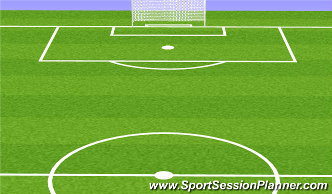 Football/Soccer Session Plan Drill (Colour): Team Scrimmage Time
