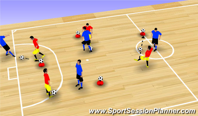 Futsal Session Plan Drill (Colour): 0. 1v1
