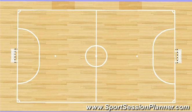 Futsal Session Plan Drill (Colour): 4. Scrimmage