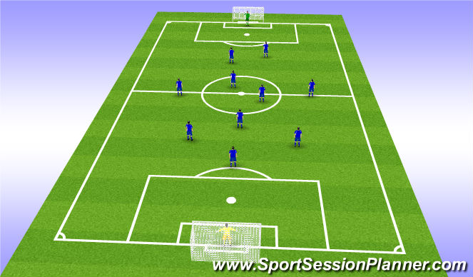Football/Soccer Session Plan Drill (Colour): Not in Possession