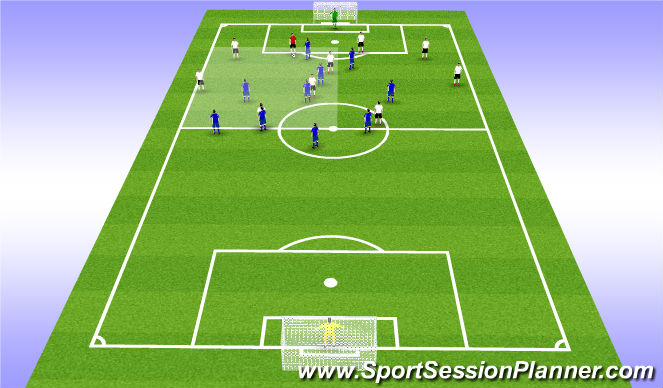 Football/Soccer Session Plan Drill (Colour): CB