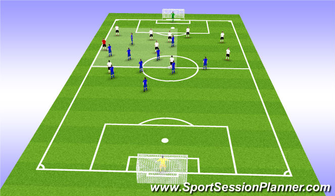 Football/Soccer Session Plan Drill (Colour): OM
