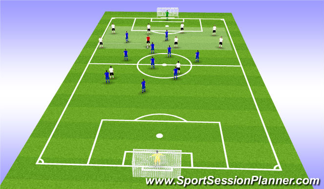 Football/Soccer Session Plan Drill (Colour): CM