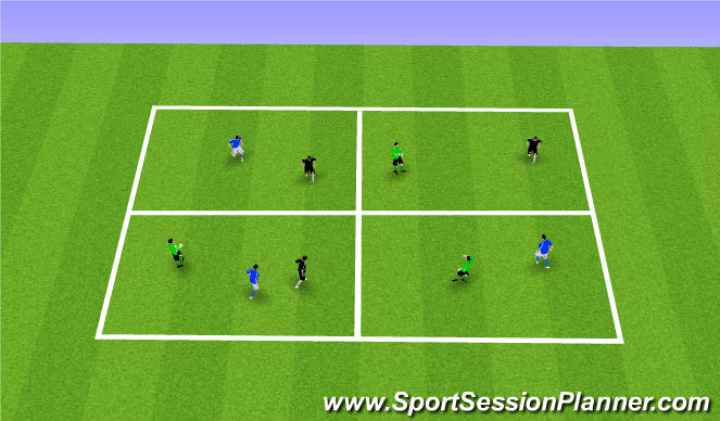 Football/Soccer Session Plan Drill (Colour): Passing & Receiving