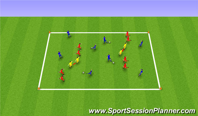 Football/Soccer Session Plan Drill (Colour): Partner Tag