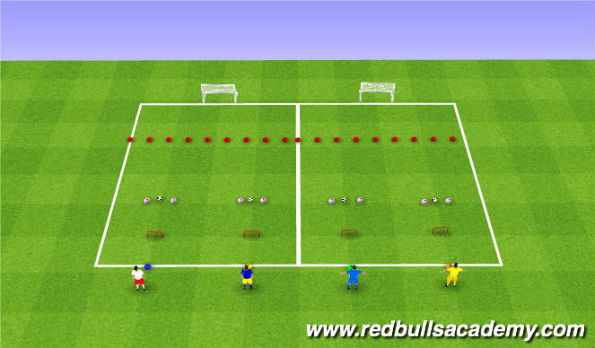 Football/Soccer Session Plan Drill (Colour): 2 Goal Competition