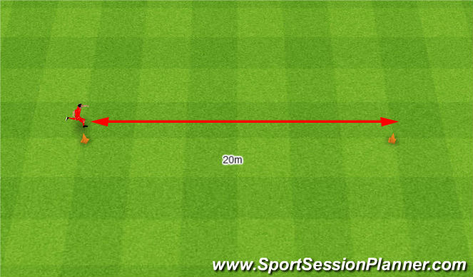 Football/Soccer Session Plan Drill (Colour): Reactive gear. Biegi- reakcja.