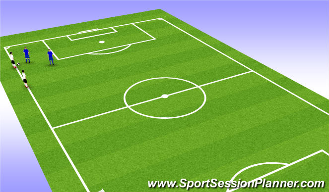 Football/Soccer Session Plan Drill (Colour): 1 v 1 Warm-Up