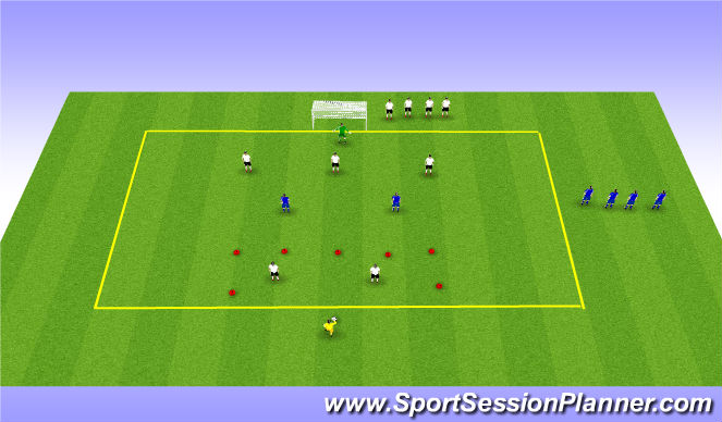 Football/Soccer Session Plan Drill (Colour): forward pressure