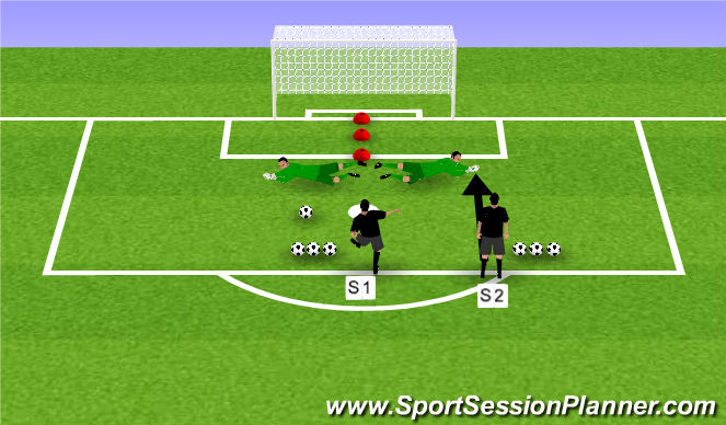 Football/Soccer Session Plan Drill (Colour): Recovery/ Low / Footwork