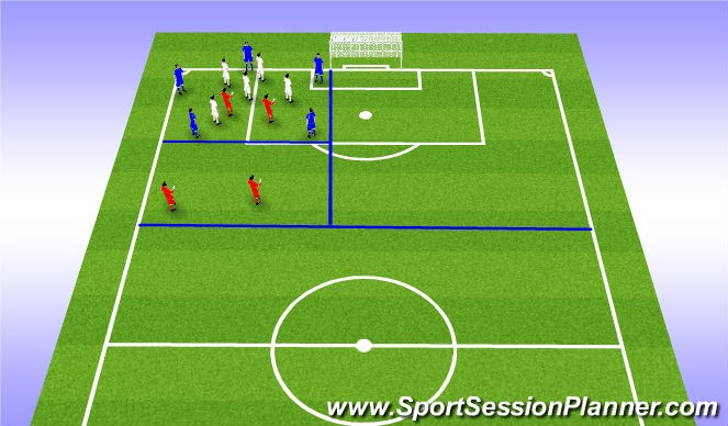 Football/Soccer Session Plan Drill (Colour): Rondo 5v5+4