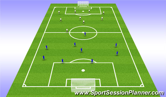 Football/Soccer Session Plan Drill (Colour): Final Game 9 v 9