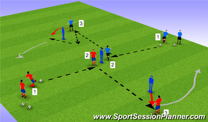 Football/Soccer Session Plan Drill (Colour): Dutch Diamonds