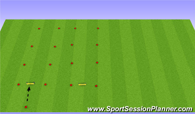 Football/Soccer Session Plan Drill (Colour): Accuracy passing