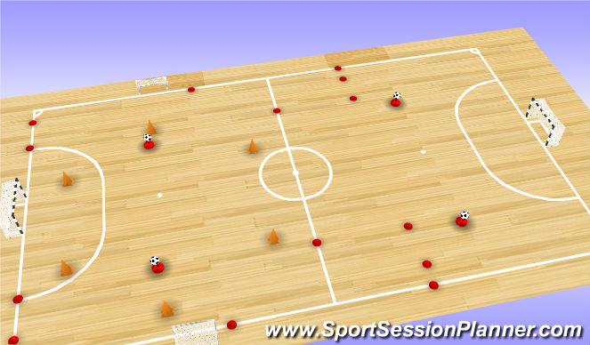 Futsal Session Plan Drill (Colour): Session Setup