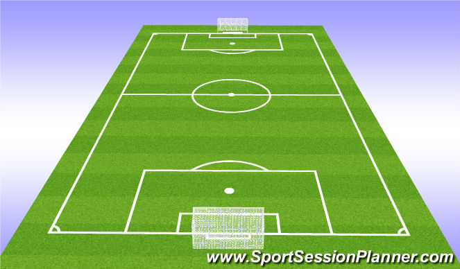 Football/Soccer Session Plan Drill (Colour): Objectives