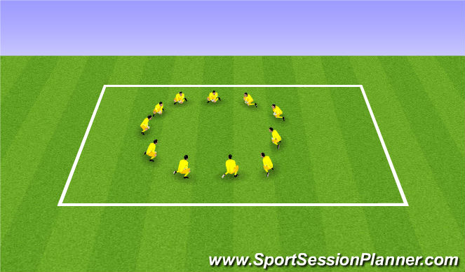 Football/Soccer Session Plan Drill (Colour): Step 5: Warm Down Stretches