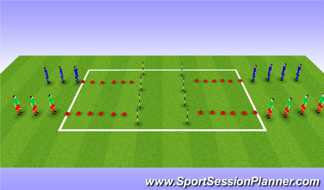 Football/Soccer Session Plan Drill (Colour): Step 1: Dynamic Stretching