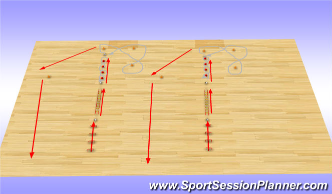 Futsal Session Plan Drill (Colour): BCA/Dribbling