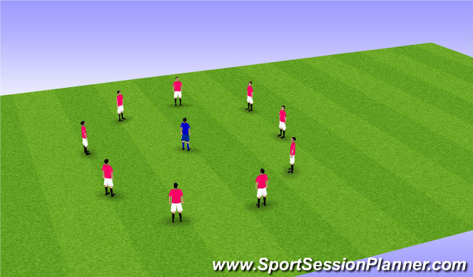 Football/Soccer Session Plan Drill (Colour): Static streching